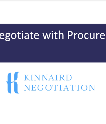 How to Negotiate with Procurement - Tom Kinnaird