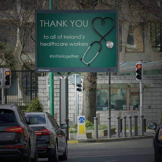JCDecaux says Thank You to Ireland's frontline services